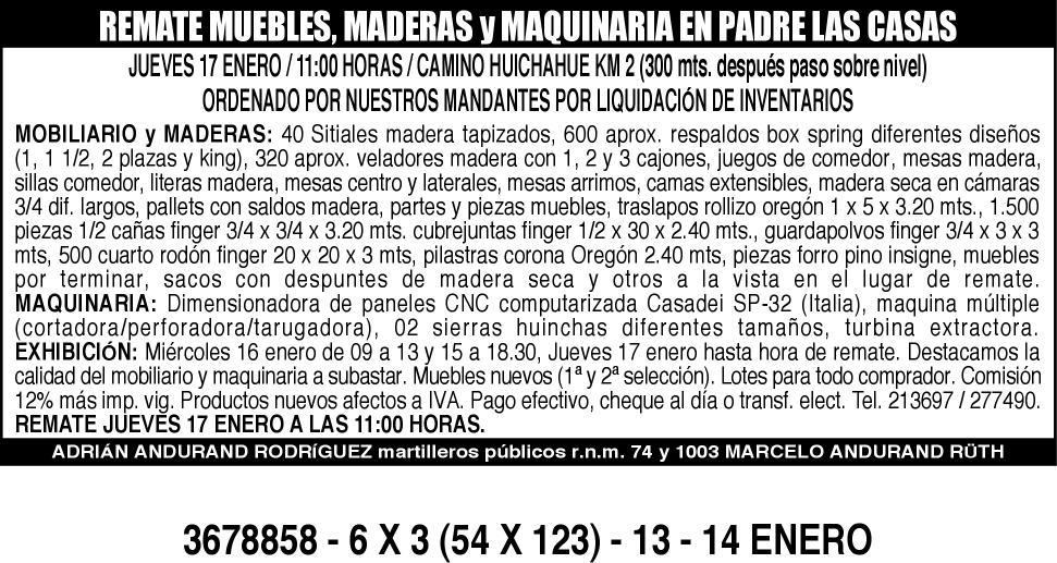 RTE. MUEBLES, MADERAS 6 X 3